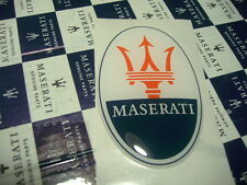 Nuevo 3d Pegatina Sticker Maserati oval con tridente original Official decal