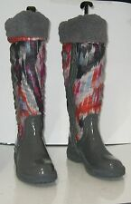 NEW DE BLOSSOM COLLECTION Black  snow  knee boot  SMALL FUR INSIDE .Size. 8