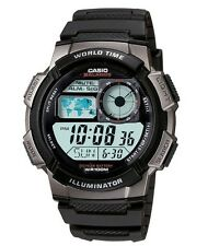 Casio Watch * AE1000W-1B Smart Power Multi Mission LCD Black Silicone COD PayPal