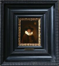 17th CENTURY DUTCH OLD MASTER PORTRAIT OF GENTLEMAN WITH ARMORIAL CREST, UNUSUAL