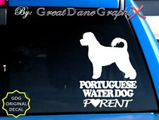 Portuguese Water Dog PARENT(S) - Vinyl Decal Sticker / Color Choice-HIGH QUALITY