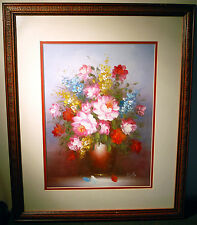 Original Oil Painting On Board - Framed, Mounted & Signed - Bento