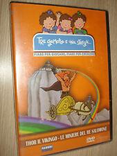 DVD TRE GEMELLE E UNA STREGA THOR IL VIKINGO LE MINIERE DI RE SALOMONE FIABE