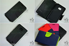 For Samsung Galaxy S2 I9100 Fancy Premium Wallet Folio Diary Case Cover - Black