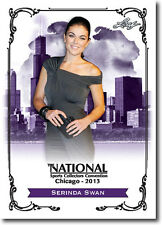 SERINDA SWAN - Actress in Breakout Kings & Graceland - 2013 Leaf PROMO Card