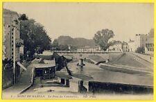 cpa MONT de MARSAN (Landes) Le PONT du COMMERCE Cachet 18e Corps d'Armée 1915