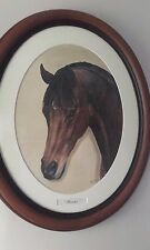 Original Signed Race Horse Oil Painting by Philippa Porley. Fletcher