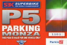 SUPERBIKE  WORLD  CHAMPIONSHIP   2011  BIGLIETTO  TICKET  PARKING