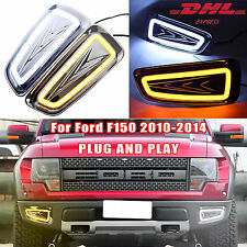 2x LED DRL Daytime Running Light Turn Signal Lamp for Ford Raptor F150 2010-2014