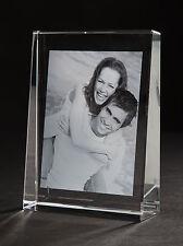VERLOBUNG Laser Foto im Glasbild selbststehend groß 140x105mm - hoch oder quer