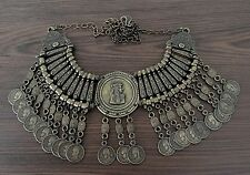 Egyptian Cleopatra Metal Beaded Collar Necklace Tribal Gypsy Accessories Jewelry