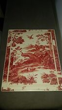 "Robert Jones & Co. ""TOILE"" 11""X14"" Print - Red Toile II - MANY PICTURES"