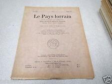 LE PAYS LORRAIN 1935 N° 2 Jacques Majorelle Voltaire & la Lorraine *