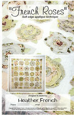 """French Roses by Heather French Easy Soft (Raw) Edge Applique 57"""" by 57"""""""