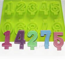 Numbers Candle Candy Chocolate Silicone Mold Birthday Cake Ice Cream Decoration