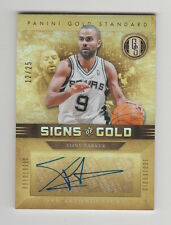 2011/12 GOLD STANDARD TONY PARKER SIGNS OF GOLD SIGNED AUTO AUTOGRAPH CARD 12/25