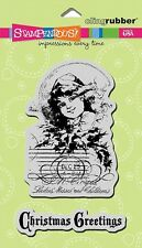 STAMPENDOUS RUBBER STAMPS CLING POSTCARD GREETINGS STAMP SET