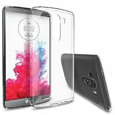 Ultra Slim Transparent Clear Soft Silicone Gel Case Cover Shell For LG G3