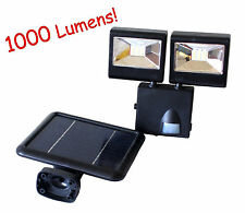 Ultra Bright 1000Lumen Solar Power Dual Heads Motion Sensor Security Flood Light