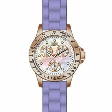 Invicta Speedway Multi-Function Mother of Pearl Dial Purple Silicone Ladies