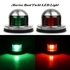 Universal Marine Boat Yacht LED Light 12V Stainless Steel Bow Navigation Lights