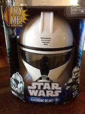 NIB 2011 Hasbro STAR WARS Clone Trooper Talking Electronic Helmet Mask