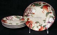 """NEW! 222 Fifth China BELLORA (4) Appetizer Snack Plates 6-1/4"""" pomegranate"""
