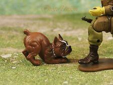 Hood Hounds Rex Brown Boxer Dog 1:18 GI Joe Size Cake Topper Figure K1285 A1