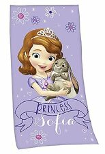 DISNEY'S PRINCESS SOFIA BATH TOWEL SAUNA HAND VELOUR CLOTH COOL 75 x 150 cm New