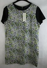 Sugarhill Boutique - Smudge Print Tunic Dress - Black/Multi - Size 16