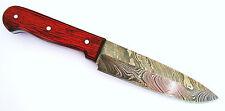 Damastmesser - Küchenmesser (Klingenlänge: 11,5 cm) - echte Schmiedekunst