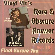 VINYL VIC'S 'Rare & Obscure Answer Records' - Vol# 19 - 26 VA Tracks