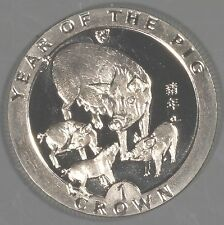 "Isle of Man 1995 ""Year of the Pig"" 1 Crown Coin"