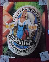 Vintage Sexy Girl Beer Poster St. Pauli ~ Country Blonde #3