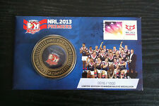 2013 NRL SYDNEY ROOSTERS PREMIERS MEDALLION COVER PNC