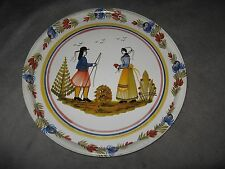 Massilly France Courtoisie Des Faienceries De Quimper HB Henriot Old Tin Tray