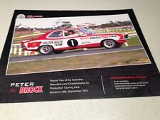 HOLDEN PETER BROCK MOTOR RACING CAR  POSTER-BIG 500MM V8 toyota nissan mazda