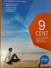 German blau.de sim-card with 10.00 EURO credit to sell