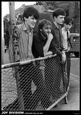 JOY DIVISION (LAMINATED) POSTER Fence Stockport 1979 (84x59cm) NEW LICENSED