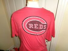 2XL tag XL fit  Red Jacket retro Cincinnati Reds baseball soft thin t-shirt