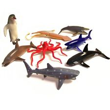 Ocean World Sealife Plastic Toys Set - 8 Fun Sealife Toy Animals