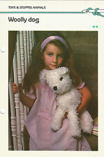 Crochet Pattern ~ WOOLLY DOG Toy ~ Instructions