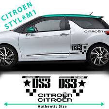 Citroen C3 DS3 Racing Side Stripes Graphics Decals Car Stickers Authentic Size