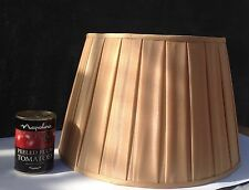 Lamp shade large gold pleated never been used.
