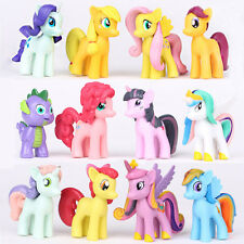 Hot Set of 12 My Little Pony Action Figures Lot Spike Celestia Rainbow Dash Pony