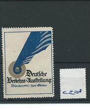wbc. - CINDERELLA/POSTER - CE08 - EUROPE- DEUTSCHE  AUSTELLUNG - MUNCHEN - 1925