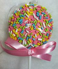 Pink Lollipop Candy Sprinkles Christmas Tree Ornament