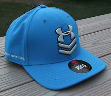 "NWT UNDER ARMOUR HeatGear ""Undeniable"" Flex Fitted Mens Hat-M/L  Ret@$27 BLUE"