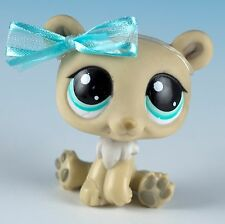 Littlest Pet Shop Polar Bear #1000 Cream With Aqua Blue Eyes - Flawed