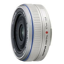 Olympus M Zuiko 17mm f 2.8 Lens W/ Filters For EPL8 EPL7 EM10 OMD PEN F Silver